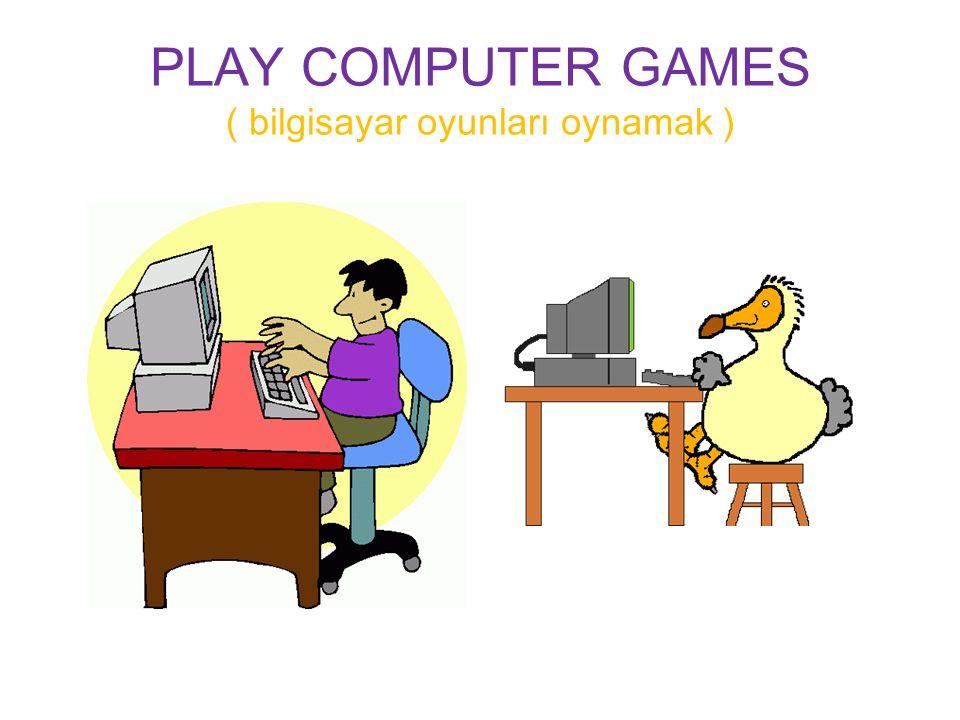 PLAY COMPUTER GAMES ( bilgisayar oyunları oynamak )