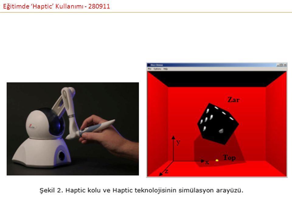 Eğitimde 'Haptic' Kullanımı - 280911