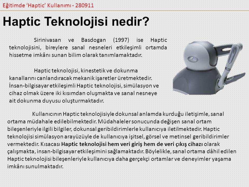 Haptic Teknolojisi nedir
