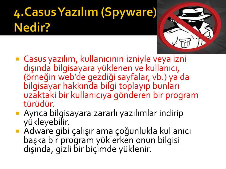 4.Casus Yazılım (Spyware) Nedir