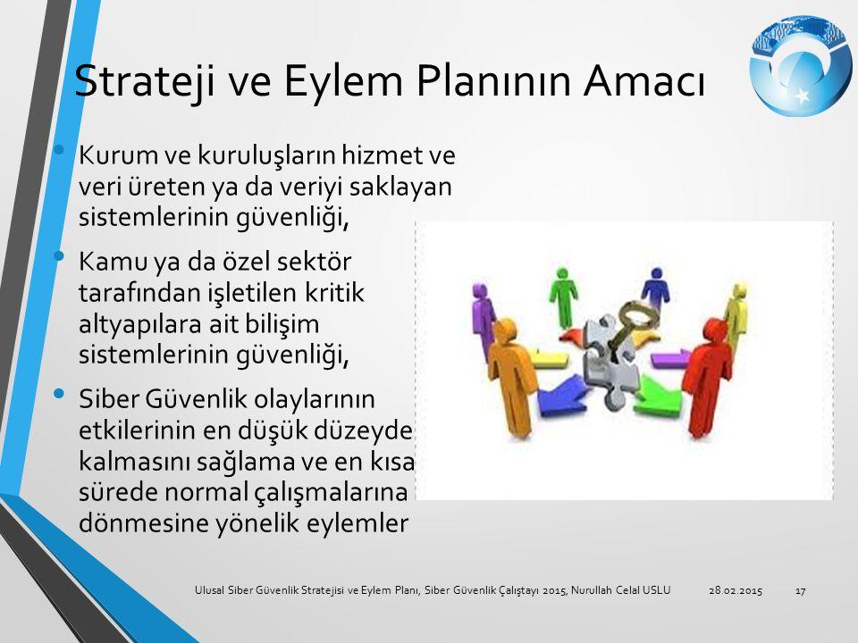 Strateji ve Eylem Planının Amacı
