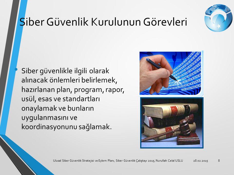 Siber Güvenlik Kurulunun Görevleri