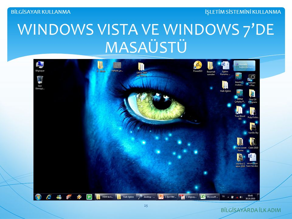 WINDOWS VISTA VE WINDOWS 7'DE MASAÜSTÜ