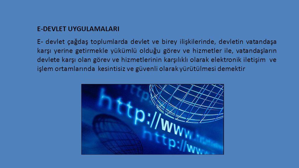 E-DEVLET UYGULAMALARI