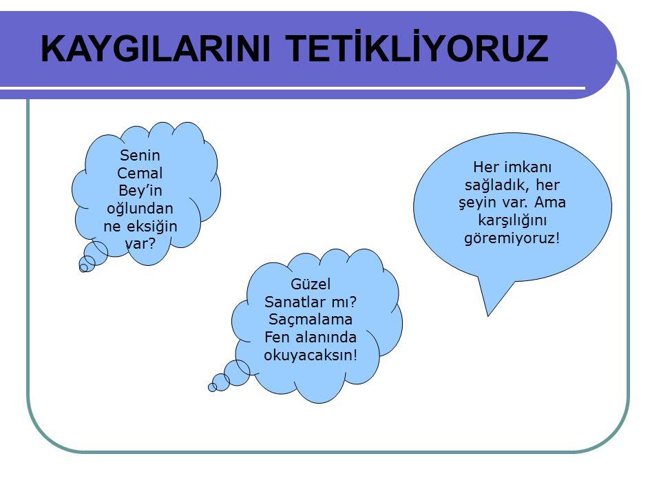 KAYGILARINI TETİKLİYORUZ
