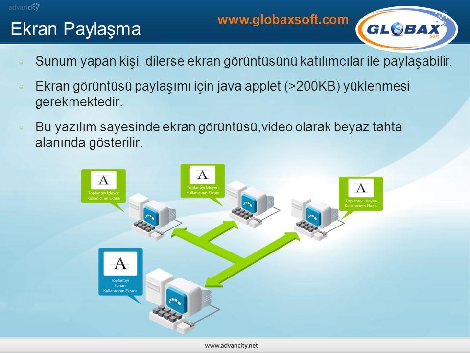 Ekran Paylaşma www.globaxsoft.com