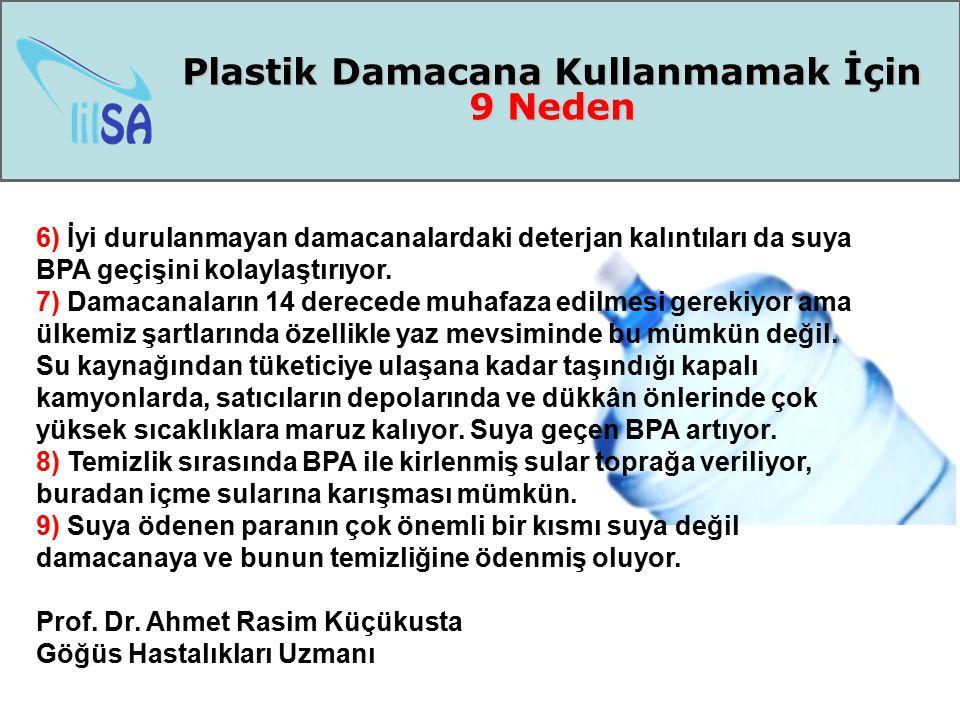 Plastik Damacana Kullanmamak İçin