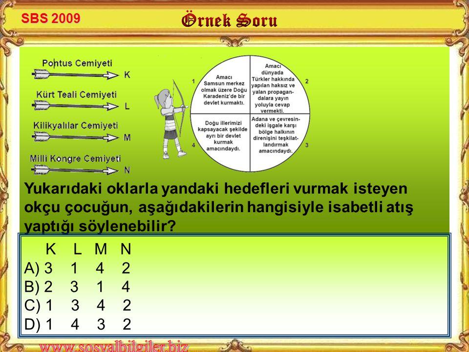 SBS 2009 Yukarıdaki oklarla yandaki hedefleri vurmak isteyen okçu çocuğun, aşağıdakilerin hangisiyle isabetli atış yaptığı söylenebilir
