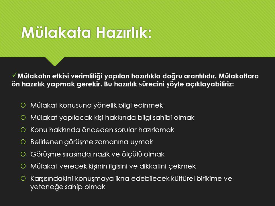 Mülakata Hazırlık: