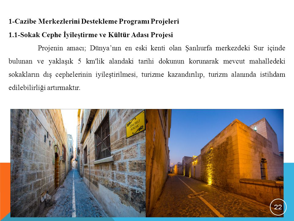 1-Cazibe Merkezlerini Destekleme Programı Projeleri
