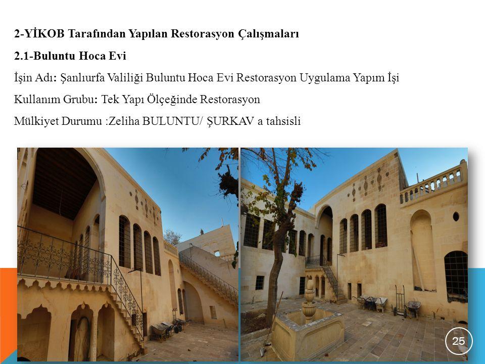 2-YİKOB Tarafından Yapılan Restorasyon Çalışmaları