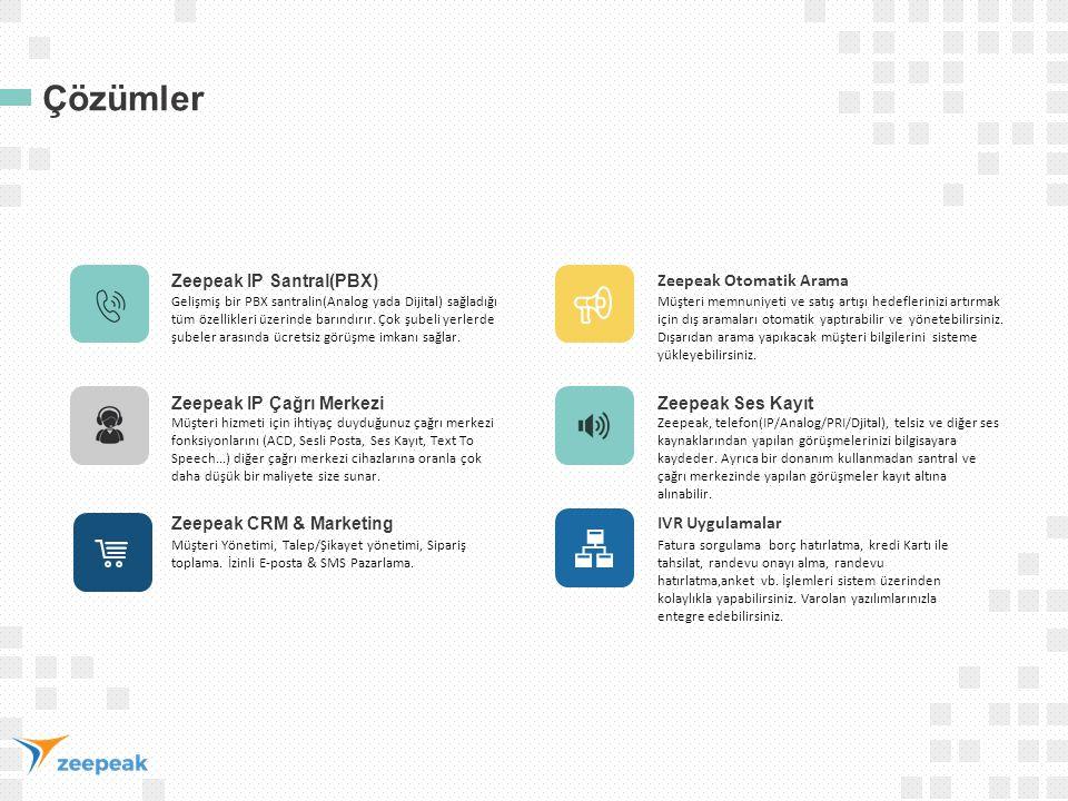 Çözümler Zeepeak IP Santral(PBX) Zeepeak Otomatik Arama