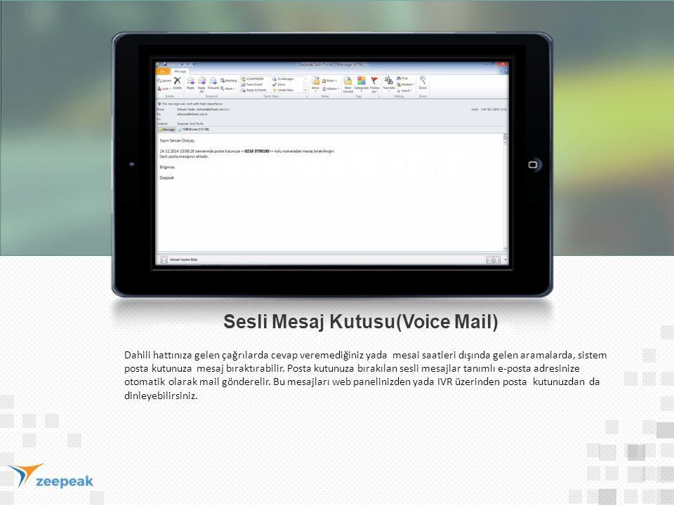 Sesli Mesaj Kutusu(Voice Mail)