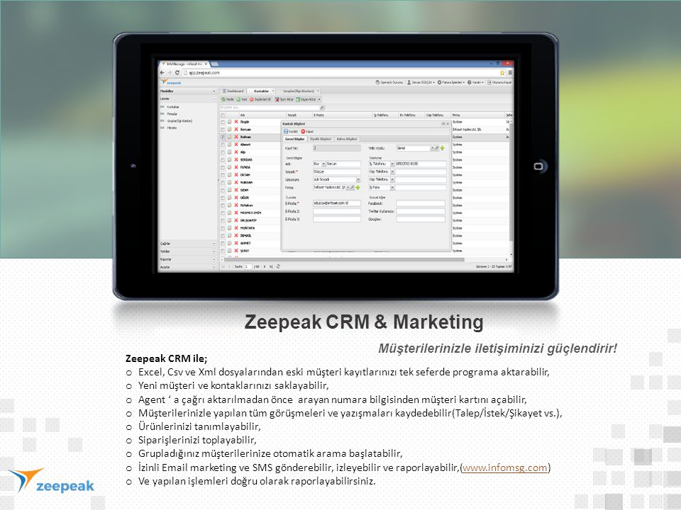 Zeepeak CRM & Marketing
