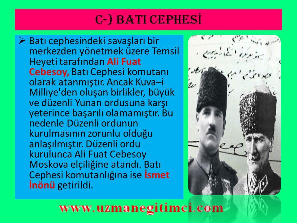 C-) BATI CEPHESİ