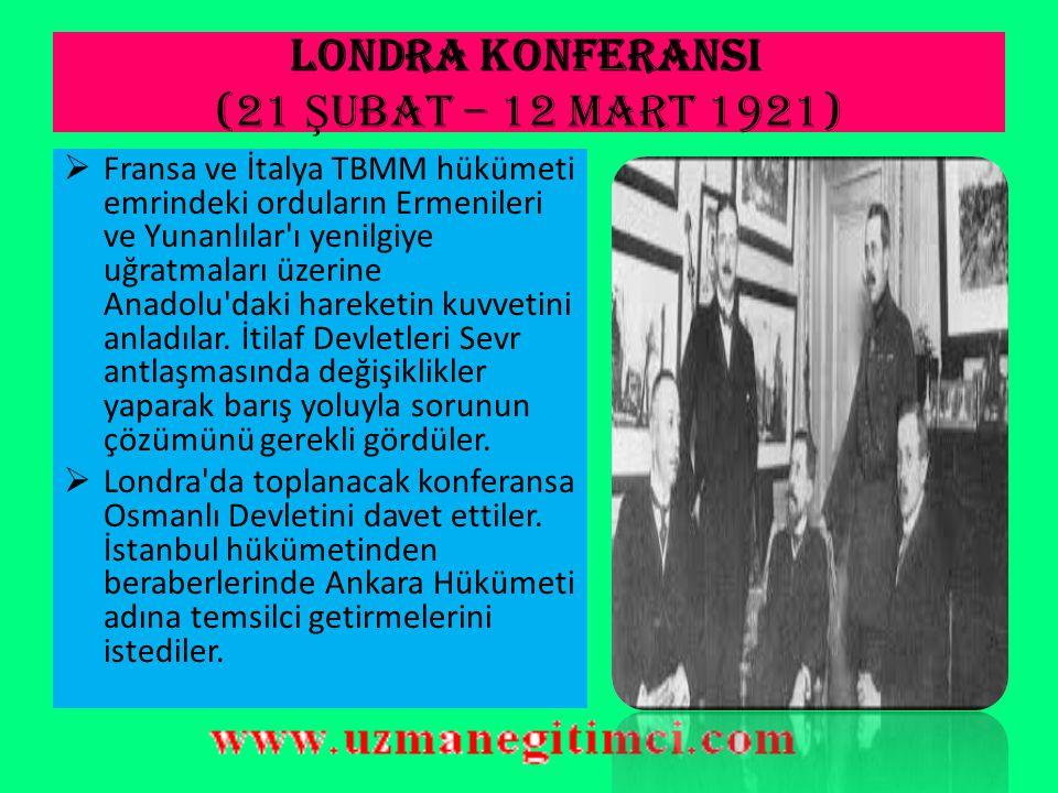 LONDRA KONFERANSI (21 Şubat – 12 Mart 1921)