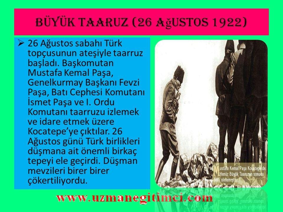 Büyük taaruz (26 ağustos 1922)