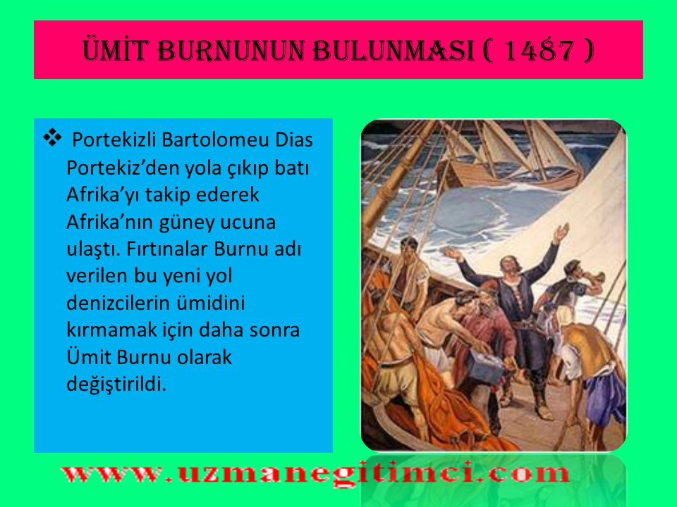 ÜMİT BURNUNUN BULUNMASI ( 1487 )