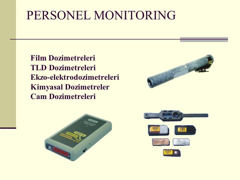 PERSONEL MONITORING Film Dozimetreleri TLD Dozimetreleri