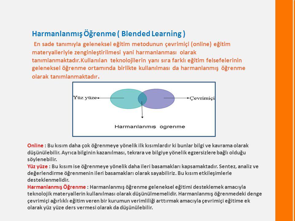 Harmanlanmış Öğrenme ( Blended Learning )