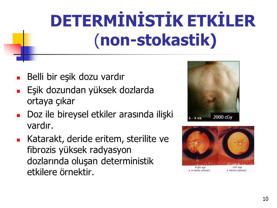 DETERMİNİSTİK ETKİLER (non-stokastik)