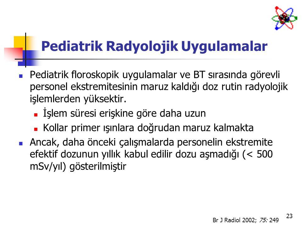 Pediatrik Radyolojik Uygulamalar