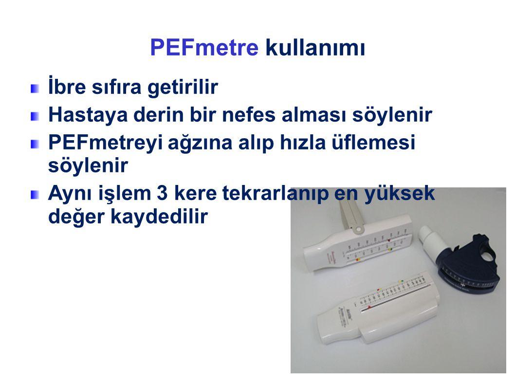 PEFmetre kullanımı İbre sıfıra getirilir
