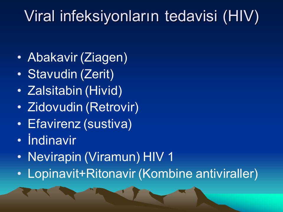 Viral infeksiyonların tedavisi (HIV)