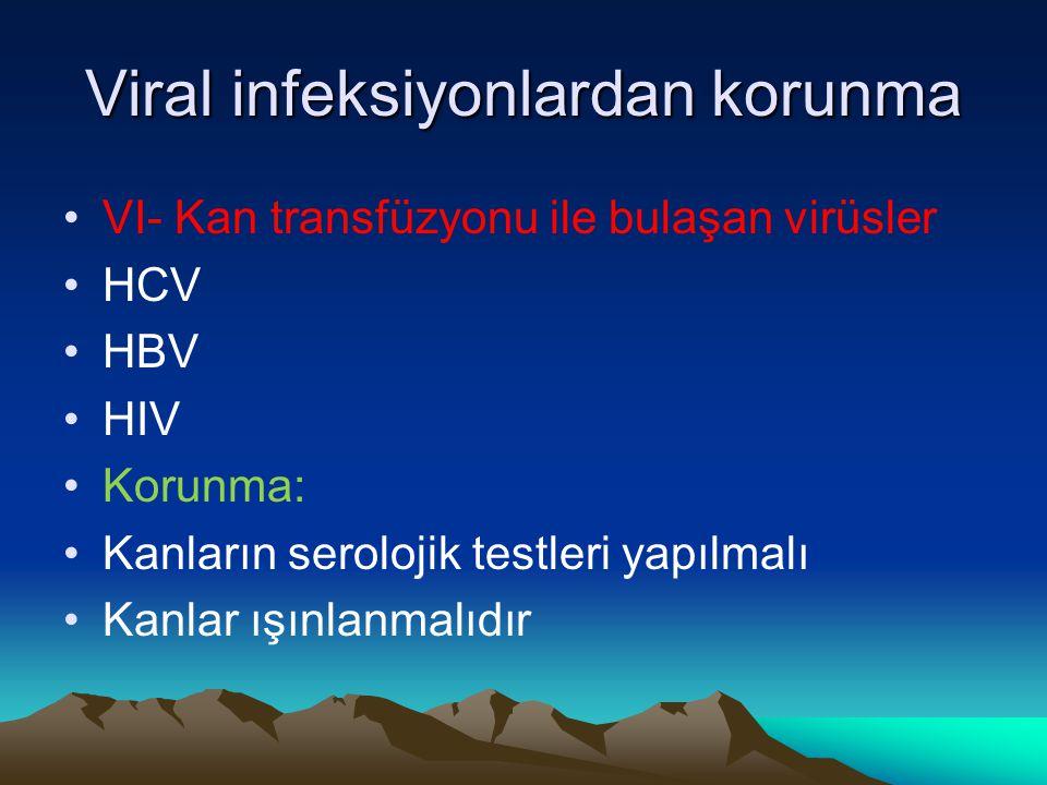 Viral infeksiyonlardan korunma