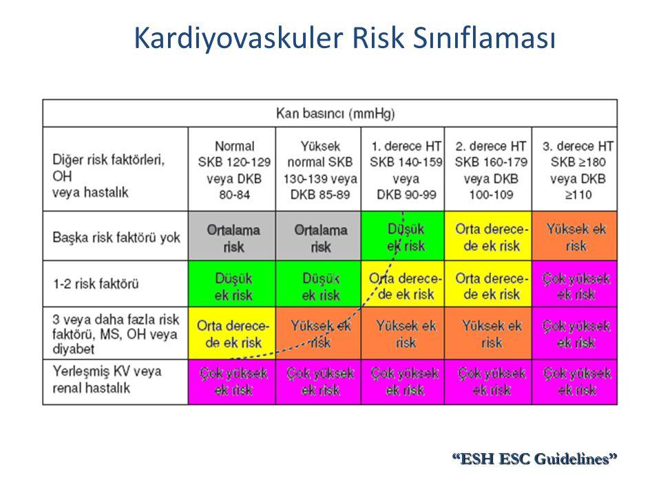 Kardiyovaskuler Risk Sınıflaması