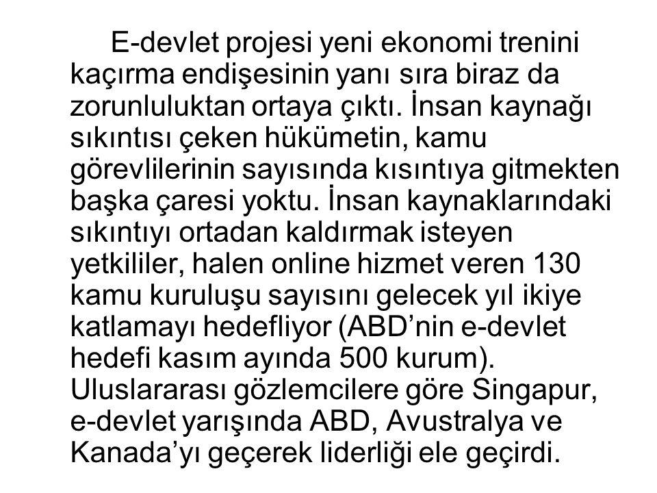 E-devlet projesi yeni ekonomi trenini kaçırma endişesinin yanı sıra biraz da zorunluluktan ortaya çıktı.