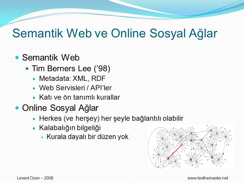 Semantik Web ve Online Sosyal Ağlar