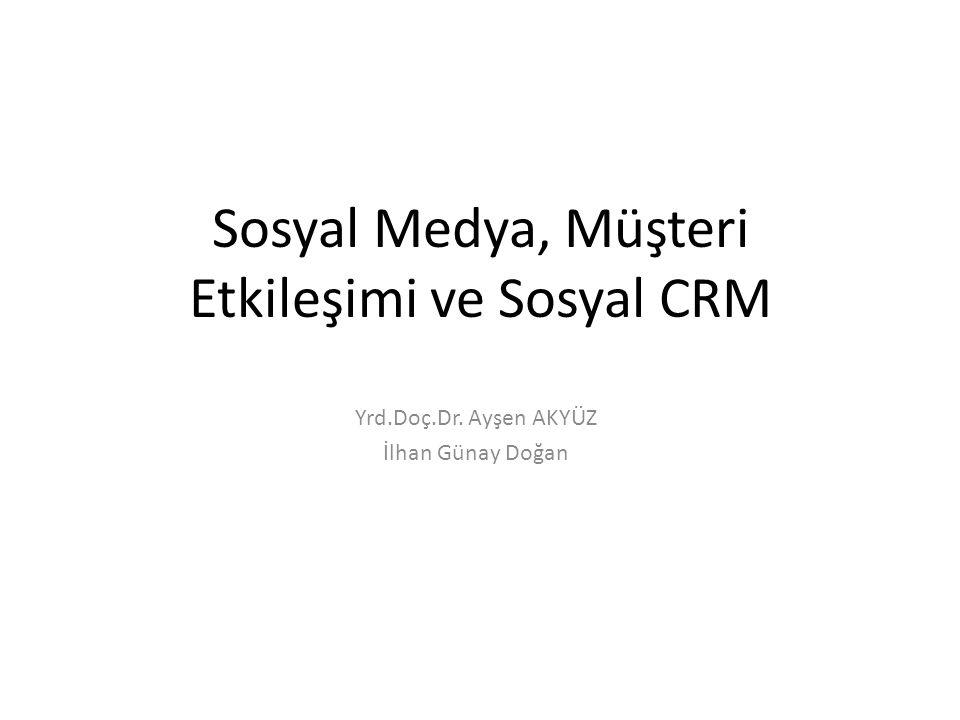 Sosyal Medya, Müşteri Etkileşimi ve Sosyal CRM