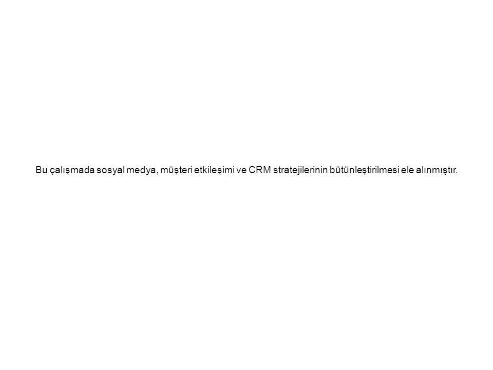 Bu çalışmada sosyal medya, müşteri etkileşimi ve CRM stratejilerinin bütünleştirilmesi ele alınmıştır.