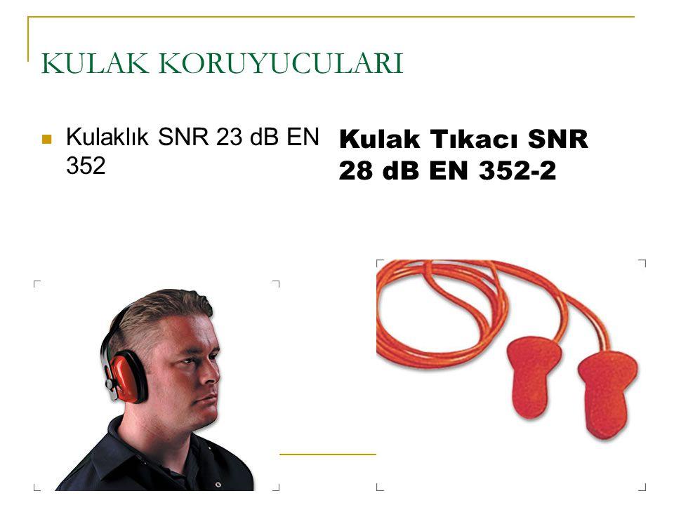 KULAK KORUYUCULARI Kulak Tıkacı SNR 28 dB EN 352-2