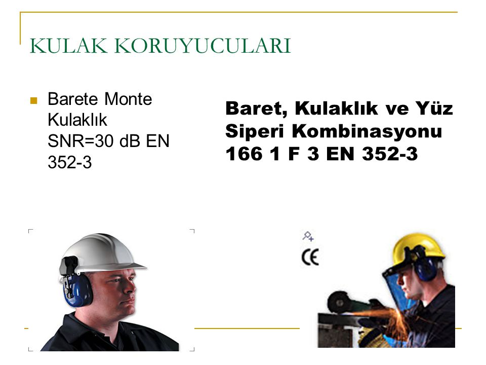 KULAK KORUYUCULARI Barete Monte Kulaklık SNR=30 dB EN 352-3.