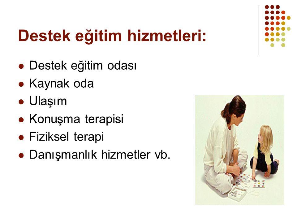 Destek eğitim hizmetleri: