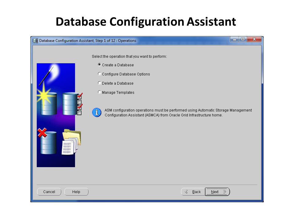 Database Configuration Assistant