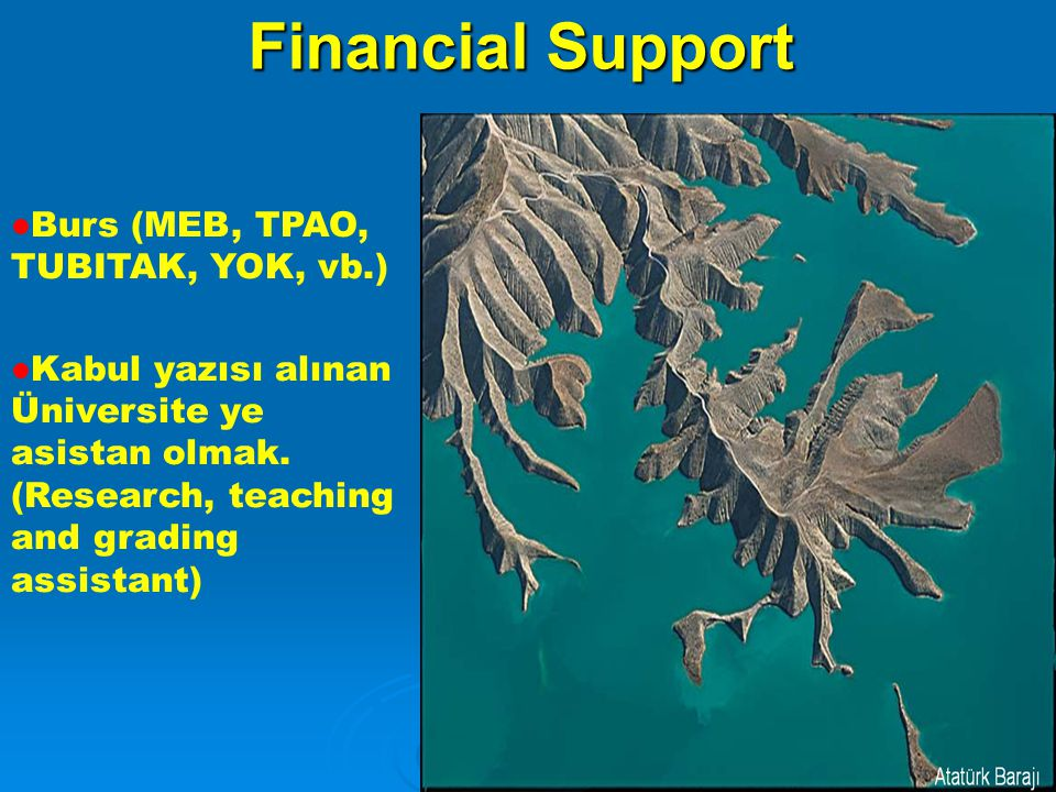 Financial Support Burs (MEB, TPAO, TUBITAK, YOK, vb.)