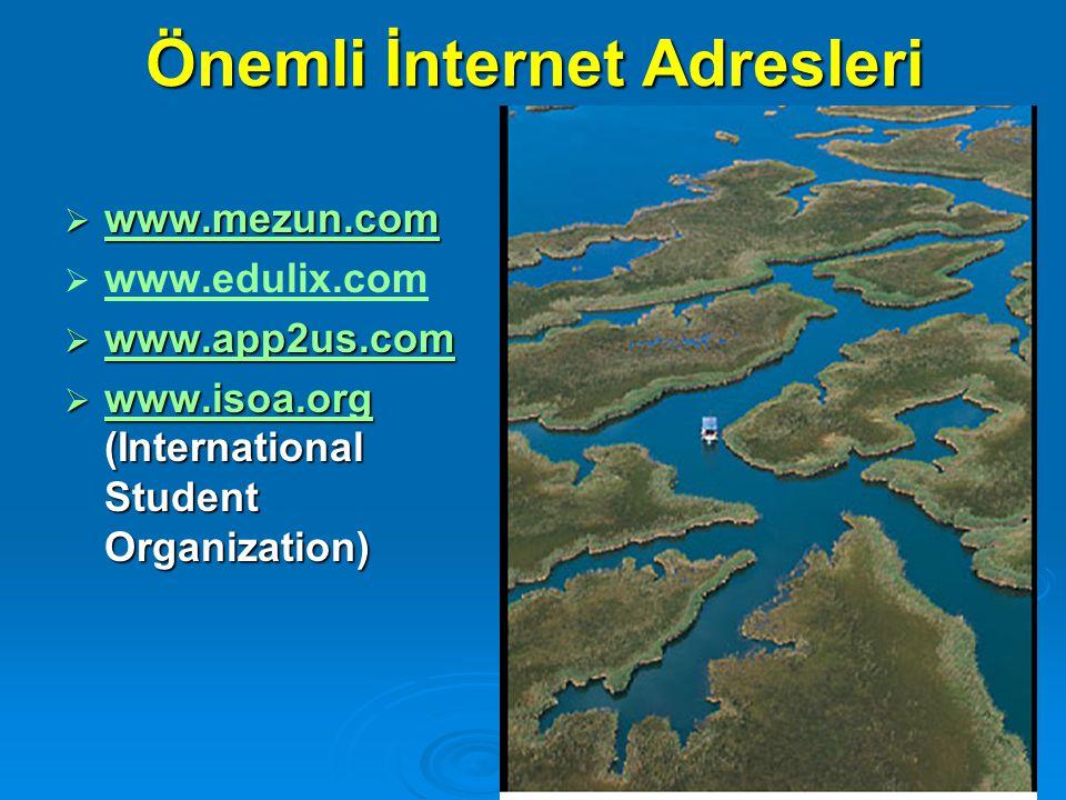 Önemli İnternet Adresleri