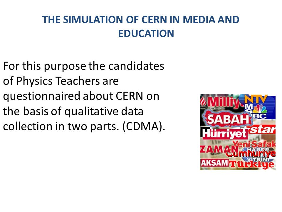 THE SIMULATION OF CERN IN MEDIA AND EDUCATION