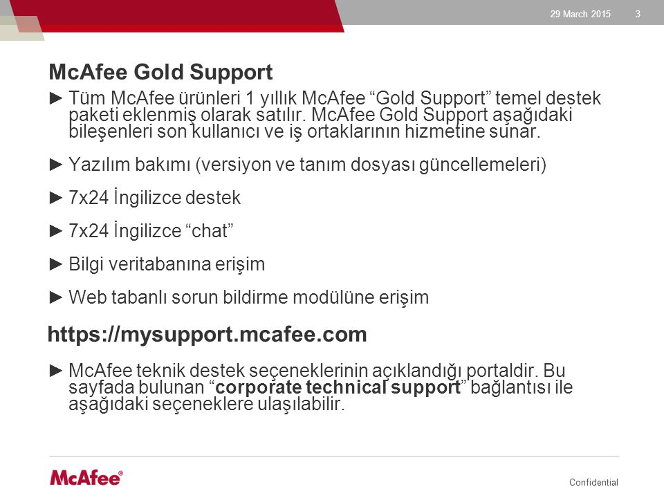 McAfee Gold Support https://mysupport.mcafee.com