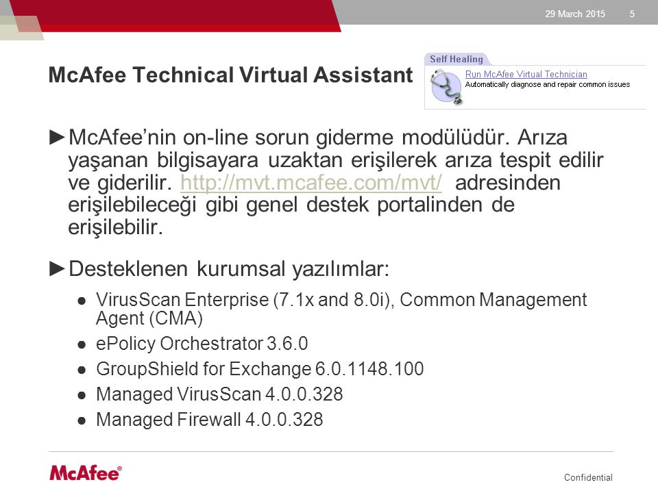 McAfee Technical Virtual Assistant