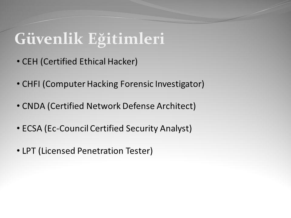 Güvenlik Eğitimleri CEH (Certified Ethical Hacker)