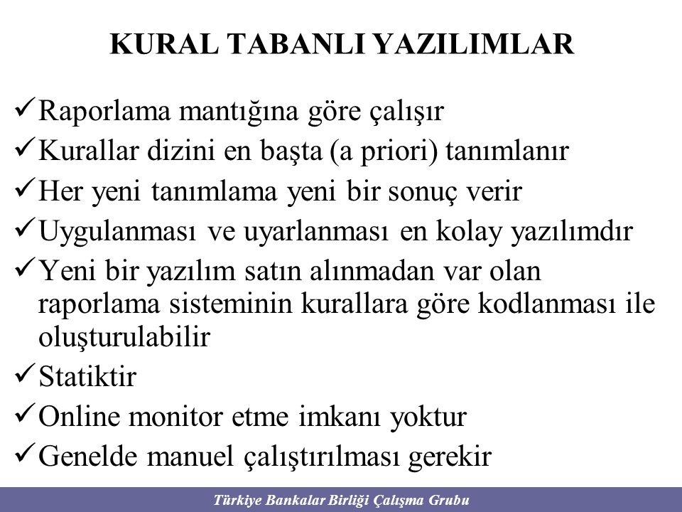 KURAL TABANLI YAZILIMLAR