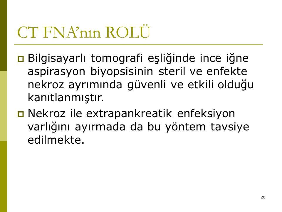 CT FNA'nın ROLÜ