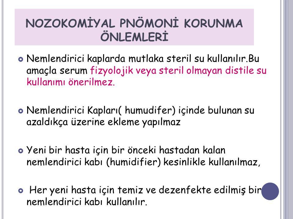 NOZOKOMİYAL PNÖMONİ KORUNMA ÖNLEMLERİ