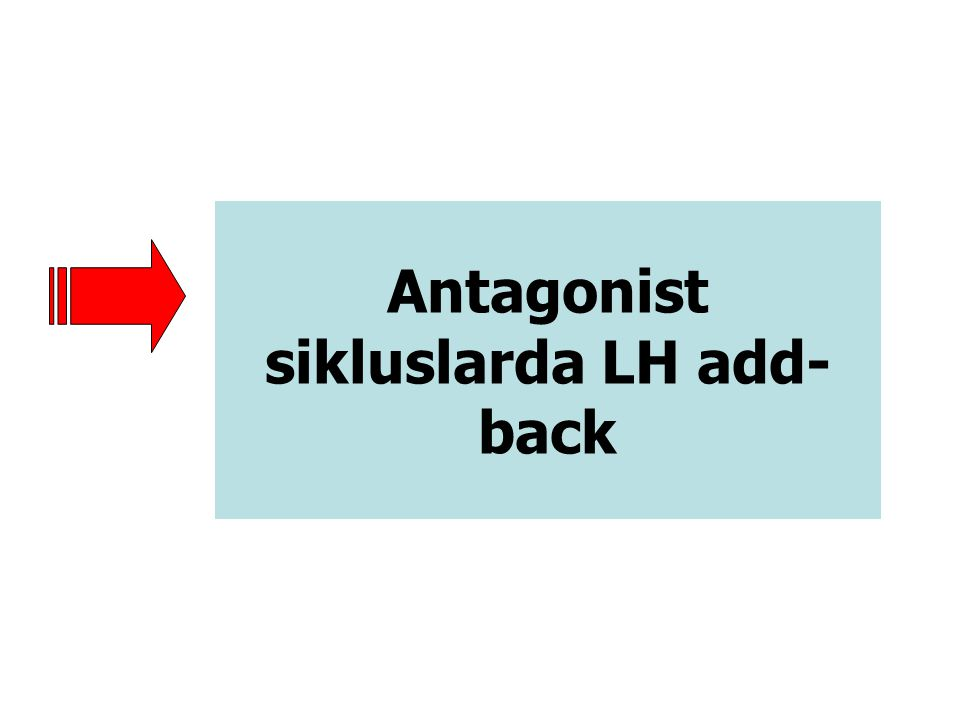Antagonist sikluslarda LH add-back