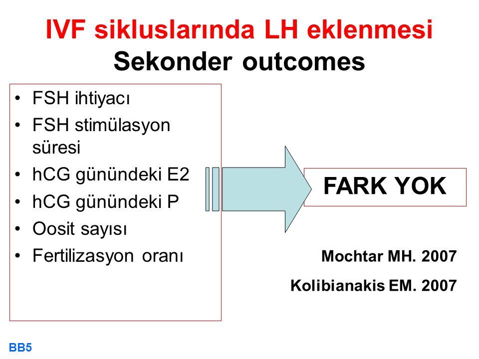 IVF sikluslarında LH eklenmesi Sekonder outcomes