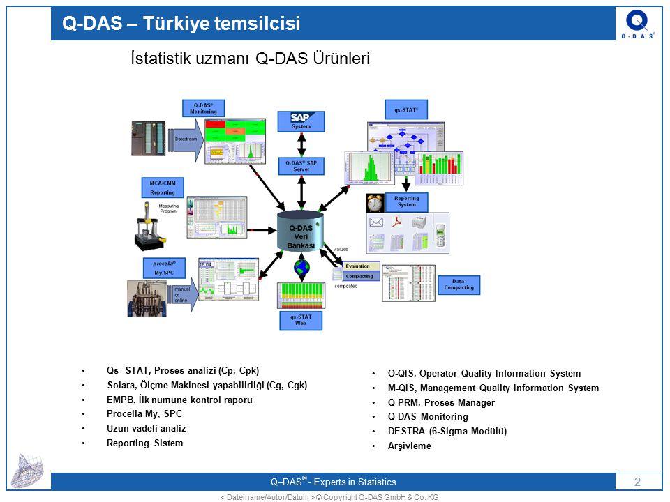 Q-DAS – Türkiye temsilcisi